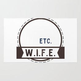 W.I.F.E. - wife, milf - WHITE Rug