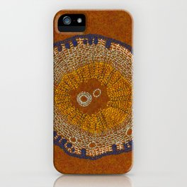 Growing - ginkgo - plant cell embroidery iPhone Case