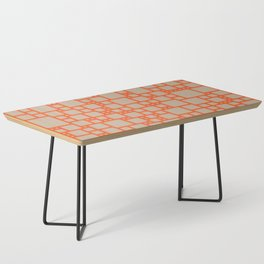 abstract cells pattern in orange and beige Coffee Table