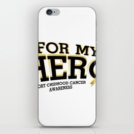 Support Childhood Cancer Awareness iPhone Skin