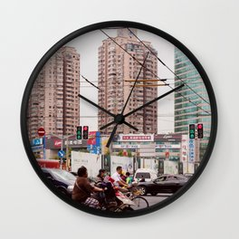 Traffic jam Wall Clock