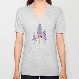 Pine Trees – 90s Color Palette Unisex V-Neck