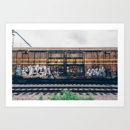 Graffiti Train Art Print