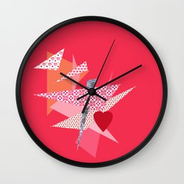 Valentine Abstract Wall Clock