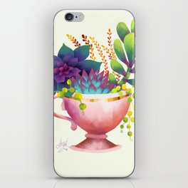 Teacup Succulent Garden iPhone Skin