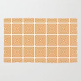 Orange Squares Rug