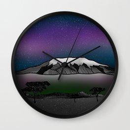 Mount Kilimanjaro Wall Clock
