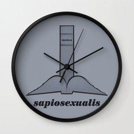 Sapiosexualis Wall Clock