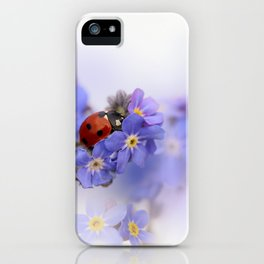 Ladybirds on Forget-me-not iPhone Case