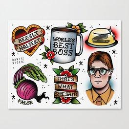 The Office Tattoo Flash Canvas Print