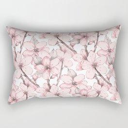 Japanese garden 12. Watercolor seamless floral pattern Rectangular Pillow