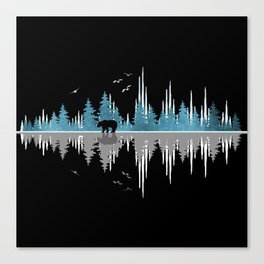 The Sounds Of Nature - Music Sound Wave Canvas Print