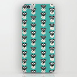 Schnauzers dog head cute pet friendly gifts for dog person with schnauzer iPhone Skin