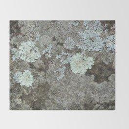 Lichen on granite Throw Blanket
