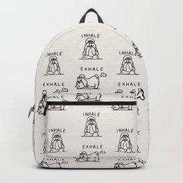 Inhale Exhale Shih Tzu Backpack