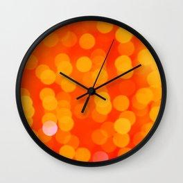 Orange Disco Fever Wall Clock