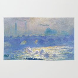 Waterloo Bridge, Sunlight Effect by Claude Monet Rug