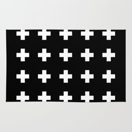 Swiss Cross Black Rug