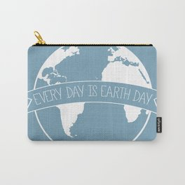 Every Day is Earth Day - white Carry-All Pouch
