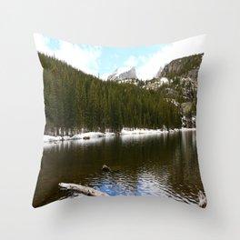 Snow At Bear Lake - Rocky Mountains NP Throw Pillow
