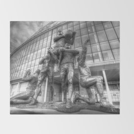 Rugby League Legends statue Wembley stadium Throw Blanket