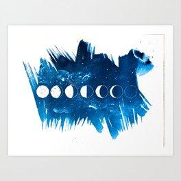 Moon Phases II Art Print