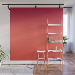 Living Coral Fiesta Jester Red Gradient Ombre Pattern Wall Mural