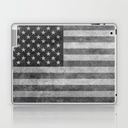 American flag - retro style in grayscale Laptop & iPad Skin