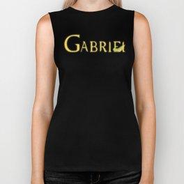 Gabriel with Feather Biker Tank