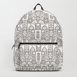 Swedish Folk Art - Warm Gray Backpack