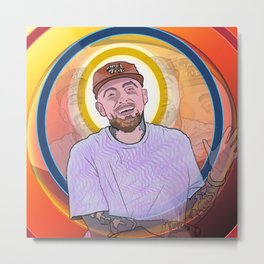 "Mac Miller - ""Music, it's a beautiful thing. It's a beautiful thing."" Metal Print"
