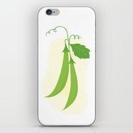 Snap peas iPhone Skin