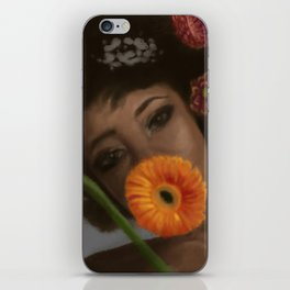 Sunflower Woman iPhone Skin