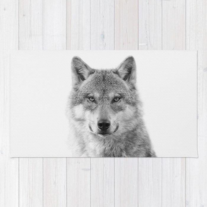 Wolf Portrait Rug