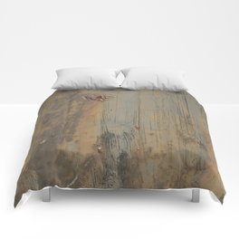 Disgusting Grungy Rusty Wounded Painted Metal Comforters