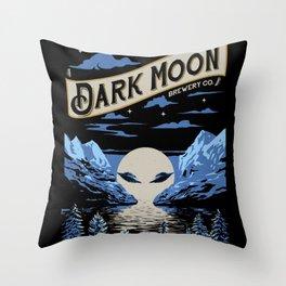 Dark Moon Throw Pillow