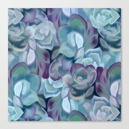 Blue Sedums Canvas Print