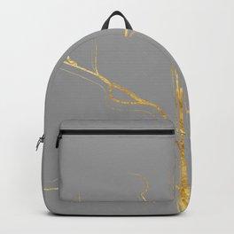 Kintsugi 3 #art #decor #buyart #japanese #gold #grey #kirovair #design Backpack
