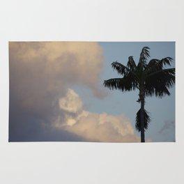 Palm Tree Contrast Rug