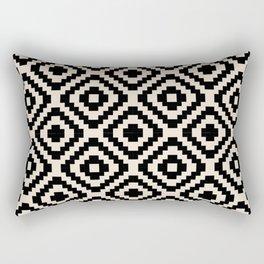 Black and Cream Square Diamonds Rectangular Pillow