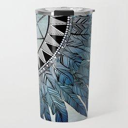 blue feather dreamcatcher Travel Mug