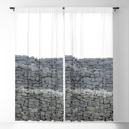 Dry stone wall Blackout Curtain