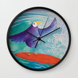 Surfs Up! Wall Clock