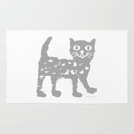 Gray cat pattern Rug