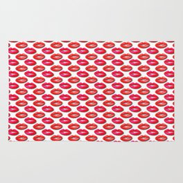 Lipstick Red and Pink Pattern Rug