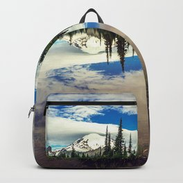 Mountain Reflections Mt Rainier Washington Backpack