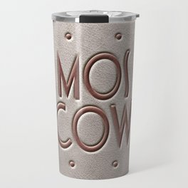 Moscow, leather and metal Travel Mug