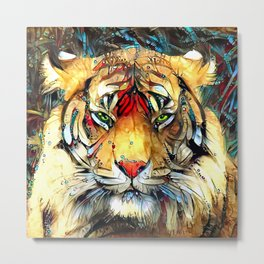 Fantazi (Tiger is Not Amused II) Metal Print