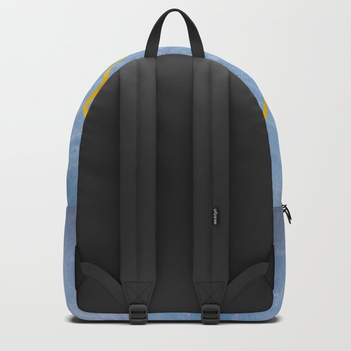 Compass Tree Gold on Blue Backpack