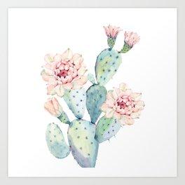 The Prettiest Cactus Art Print